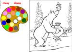 Онлайн игры раскраски маша и медведь