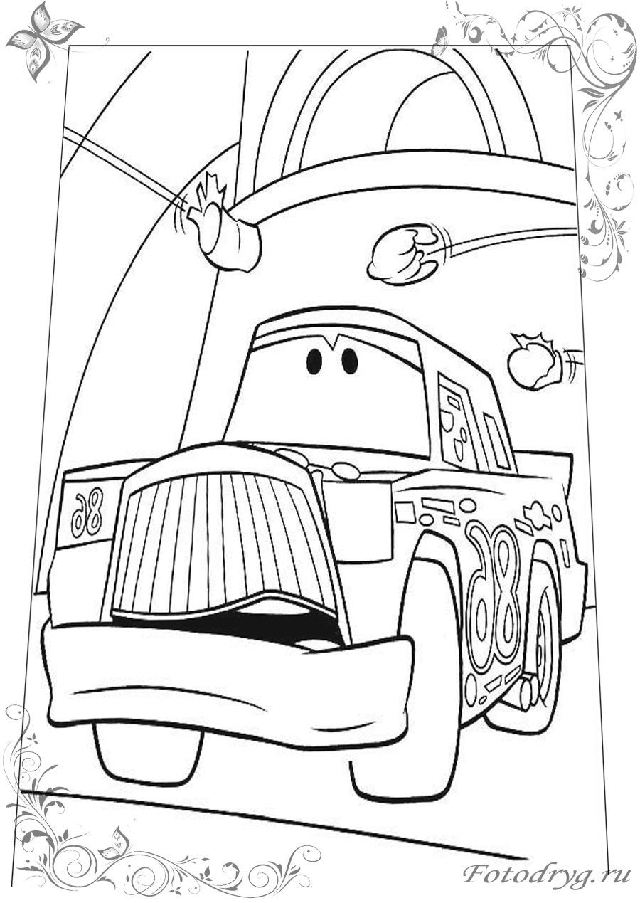 Раскраски автомобили для детей для печати и онлайн