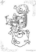 Онлайн раскраски с Смешариком Барашем, которые можно и ...
