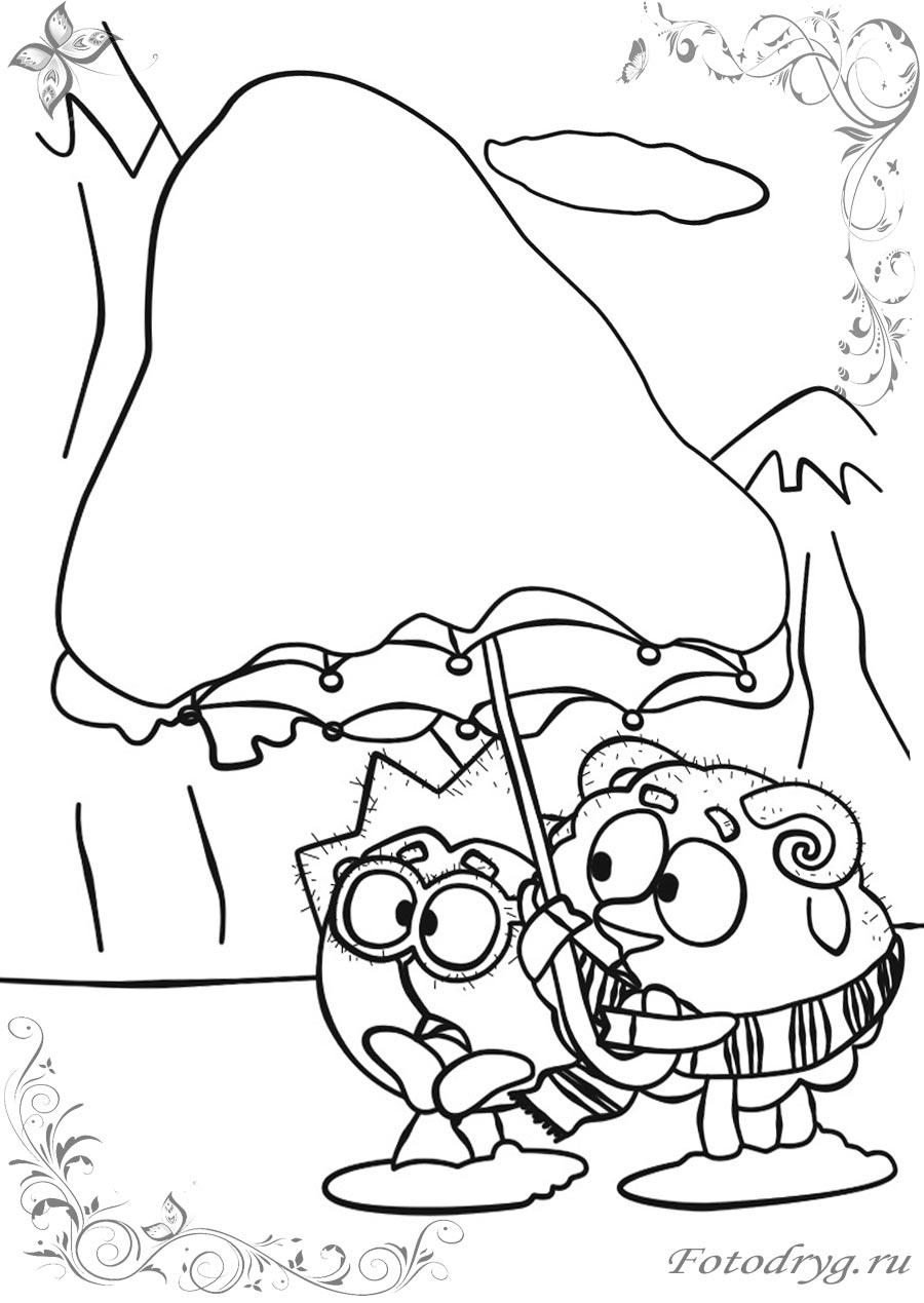 Раскраски для детей Смешарики Бараш печатайте у нас на ...