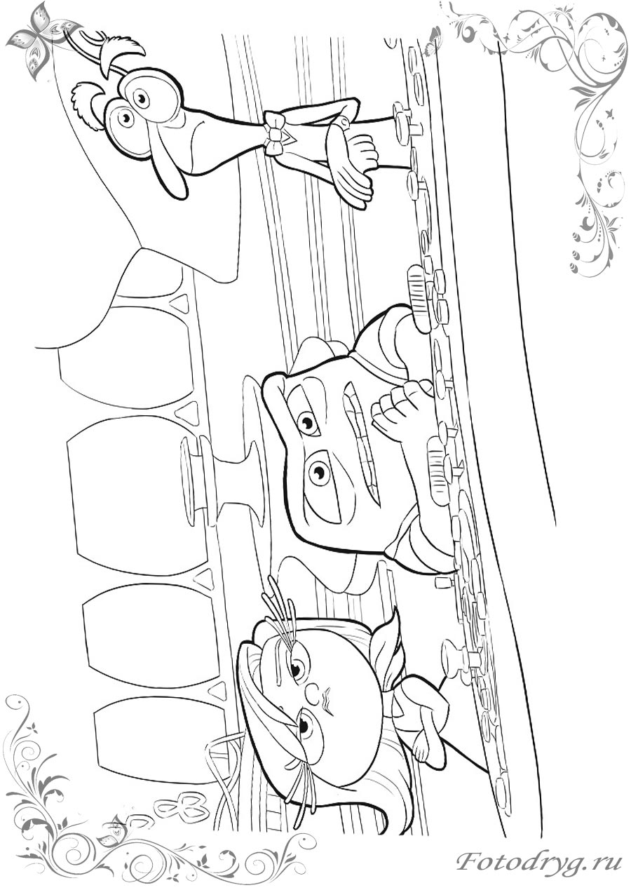 Онлайн раскраски Головоломка для мальчиков и девочек