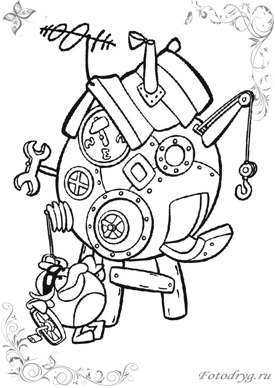 Раскраски с Смешариками для мальчиков и девочек печатайте ...