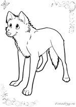 онлайн раскраски с волками которые можно и распечатать