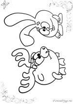 Онлайн раскраски с Смешариком Лосяшем, которые можно и ...